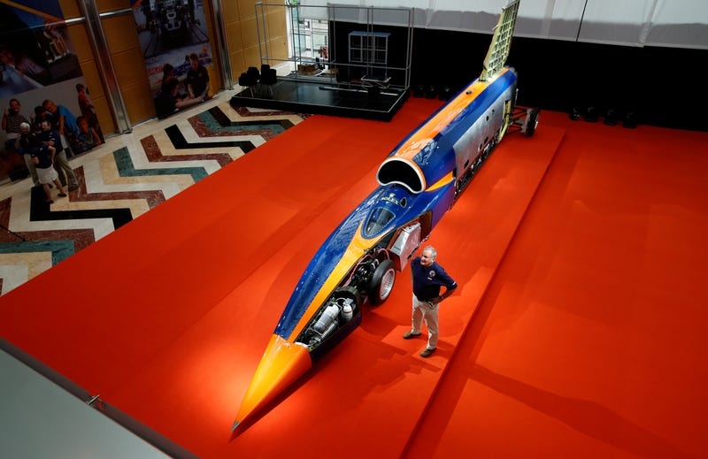 Project director Richard Noble with the Bloodhound SSC in 2015.