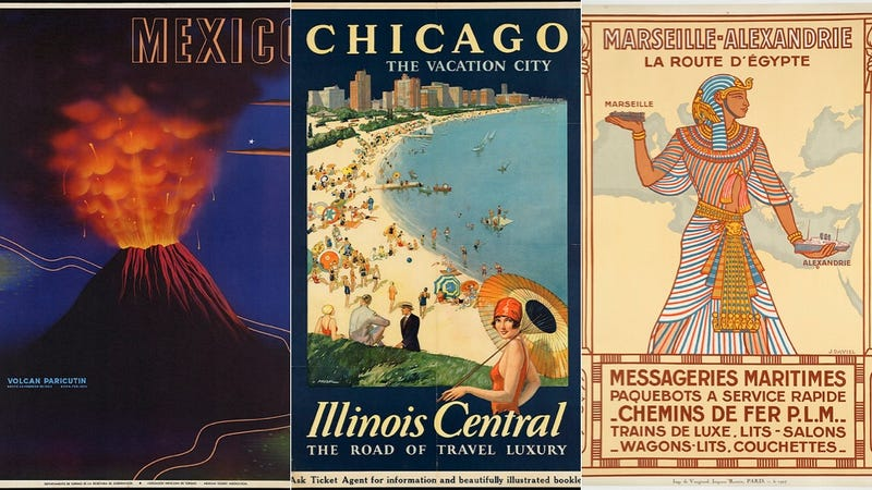 Illustration for article titled 20 Gorgeous Posters From a Time When Travel Was Glamorous