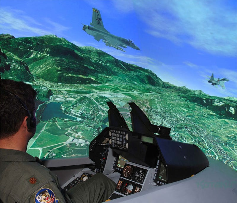 Illustration for article titled This Flight Sim Needs 120 Graphics Cards Just To Get Off The Ground