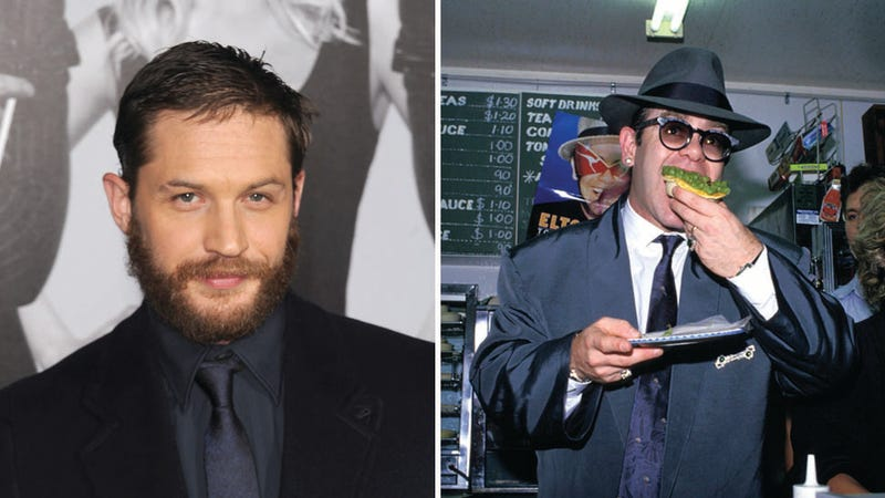 Illustration for article titled Your Boyfriend Tom Hardy Considers Playing Sir Elton in a Movie