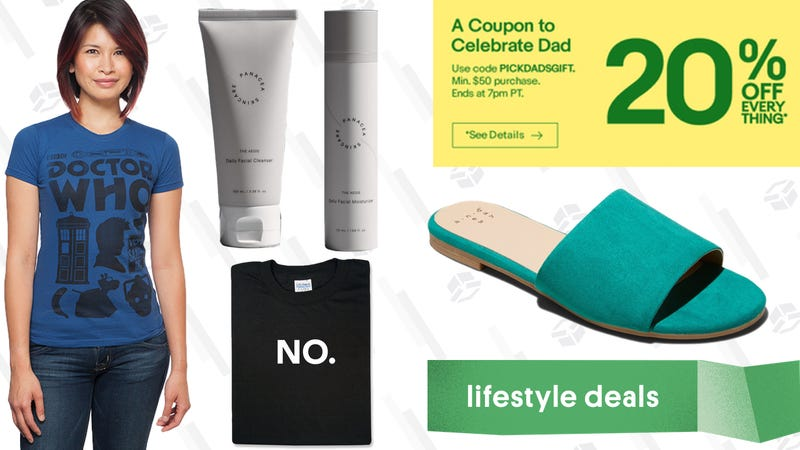 Illustration for article titled Wednesday's Best Lifestyle Deals: Panacea Skin Care, eBay, ThinkGeek, Target, and More