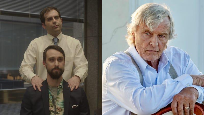 Jake Weisman and Matt Ingebretson in Corporate (left), Rutger Hauer in Channel Zero: Butcher's Block
