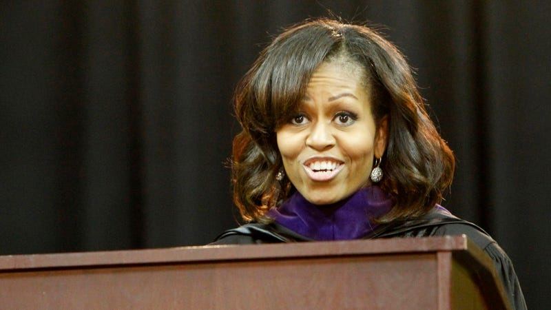 Illustration for article titled Michelle Obama Debuts Side Swept Bangs Because Benghazi