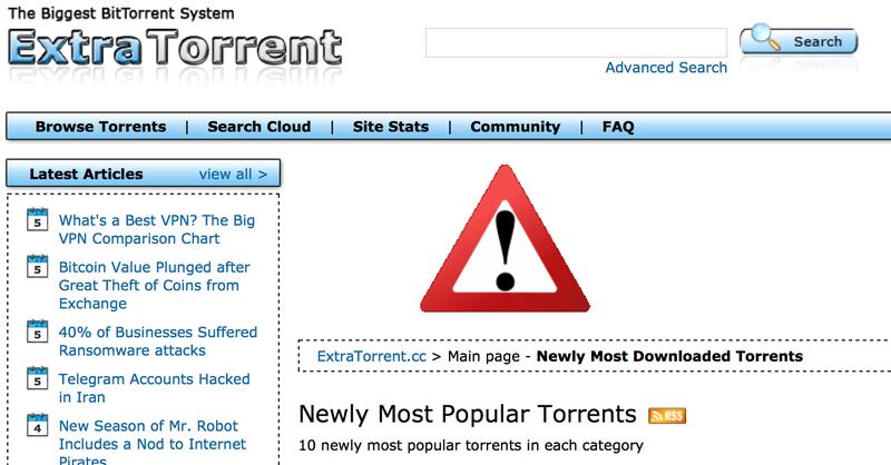 Illustration for article titled Adiós ExtraTorrent: cierra por sorpresa una de las mayores webs de torrents