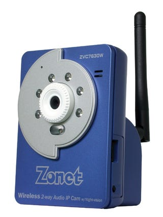 Illustration for article titled Zonet Wireless Night Vision Security Cam is Affordable Fun
