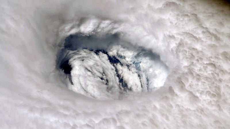 The view of Hurricane Dorian's eye from the International Space Station.