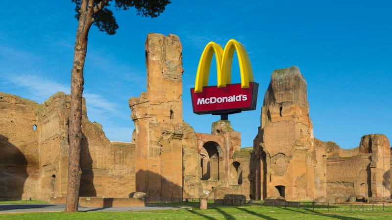 Illustration for article titled McDonald's banned from building location next to ancient Roman baths