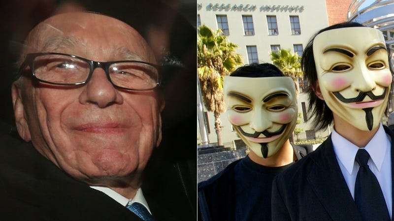 Illustration for article titled Anonymous Cowers in the Face of Rupert Murdoch (Updated: Anonymous Speaks)