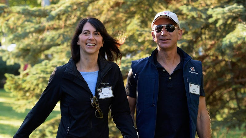MacKenzie Bezos and Jeff Bezos in a file photo from 2013