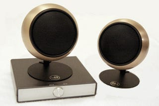Illustration for article titled Orb PC Speakers Come With an Amplifier and a Choice of Metal Finishes