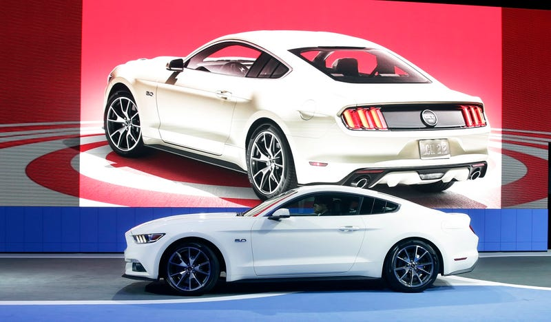 Illustration for article titled Europeans Finally Get The Mustang And Immediately Go For The V8
