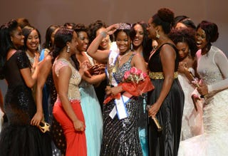 Jasmine Alexander, 26, is crowned Miss Black USA 2014 in Washington, D.C., Aug. 10, 2014.Nicole L. Cvetnic/The Root