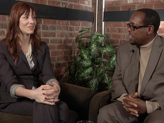 Mark Anthony Neal with Ali Colleen NeffLeft of Black