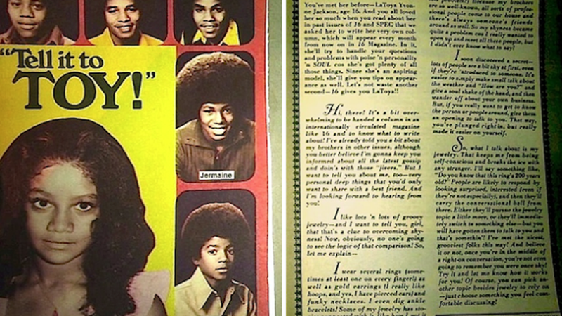 Illustration for article titled We Really Wish La Toya Jackson's Teen Advice Column Still Existed