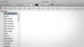 Illustration for article titled Type Faster with OS X's Autocomplete