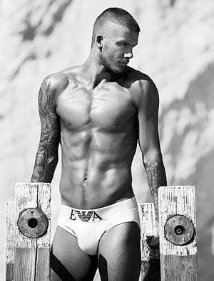 Illustration for article titled David Beckham's New Armani Ad: Yes.