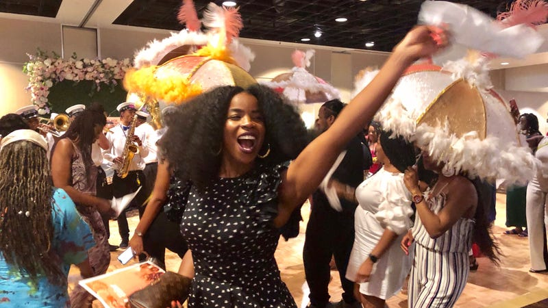 The Root's Felice Léon celebrates the end of Essence Festival 2019 at Color of Change's Black Women Brunch