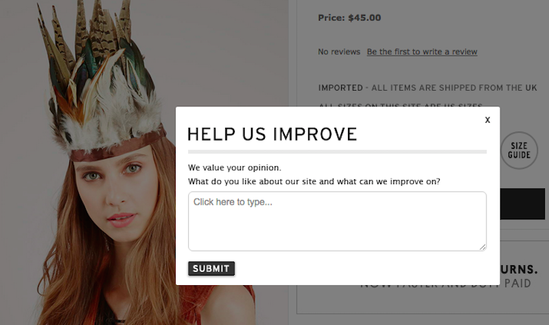 Illustration for article titled Topshop Is Really Rocking it With This 'Ornate Feather Headdress'