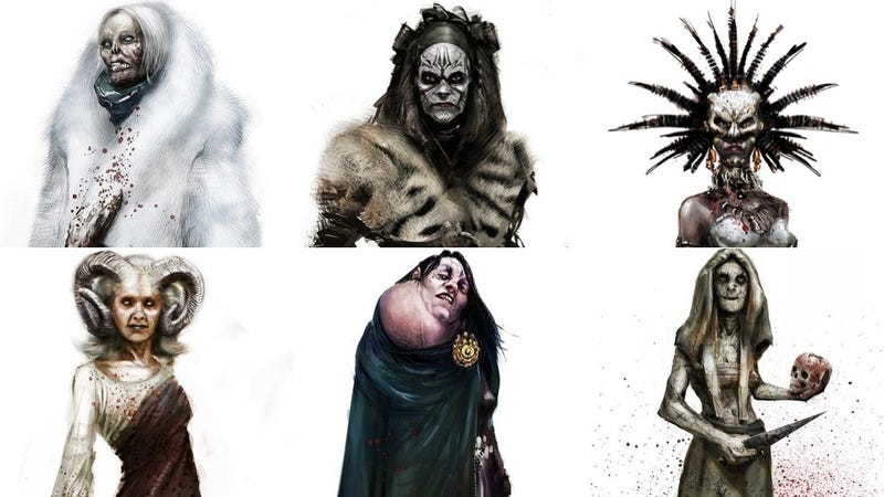 Illustration for article titled The grotesque witch concept art from Hansel & Gretel will probably turn you on
