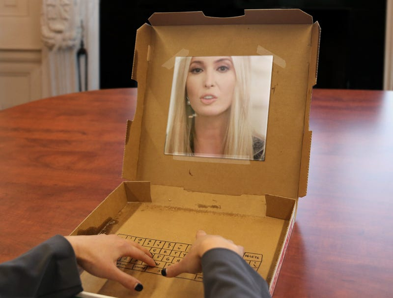 Illustration for article titled White House Security Officials Relieved Ivanka Trump's Computer Just Cardboard Box With Mirror On It