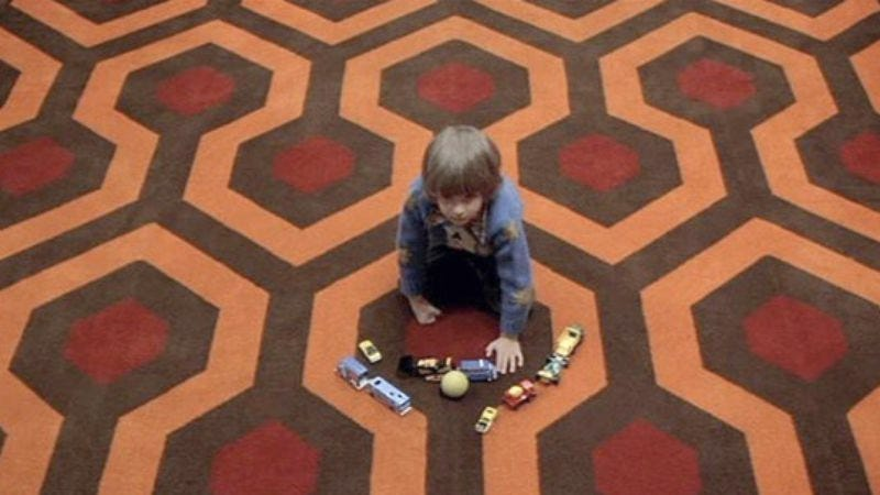 """The placement of the trucks secretly encodes the message, """"Jesus Christ, people, it's just a movie. God."""" (The Shining)"""