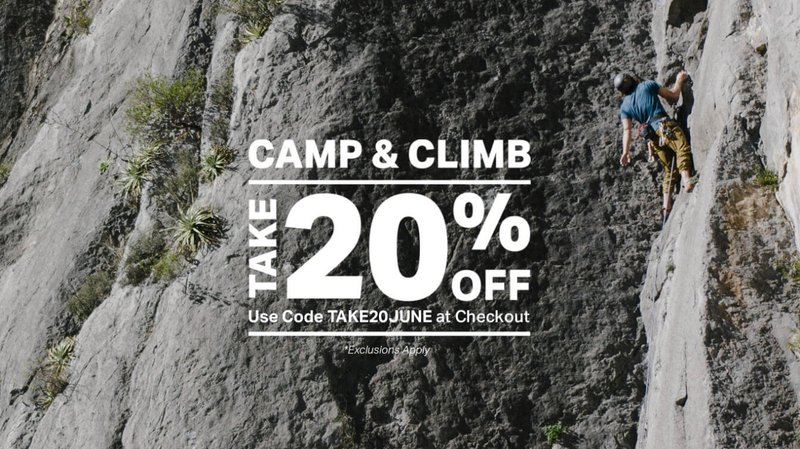 20% Off Camp and Climb | Backcountry | Promo code TAKE20JUNE