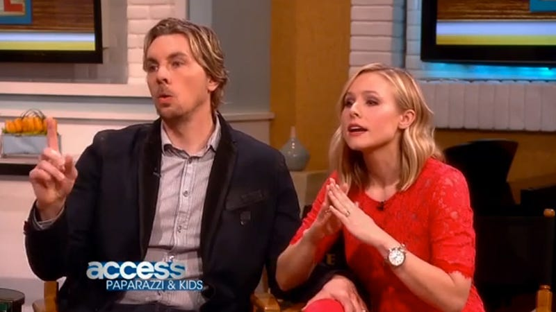 Illustration for article titled Kristen Bell and Dax Shepard Confront Paparazzo in Tense TV Showdown