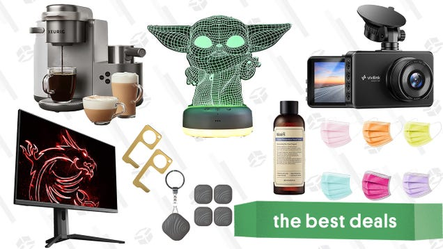 Sunday s Best Deals: MSI 27  Gaming Monitor, ViviLink Dashcam, Star Wars Night Light, Nutale Findthing Trackers, Keurig Coffee & Latte Maker, Klairs Skincare, and More