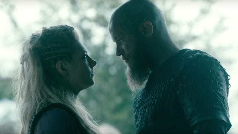 Illustration for article titled Royal exes butt heads in an exclusive clip from tonight's Vikings