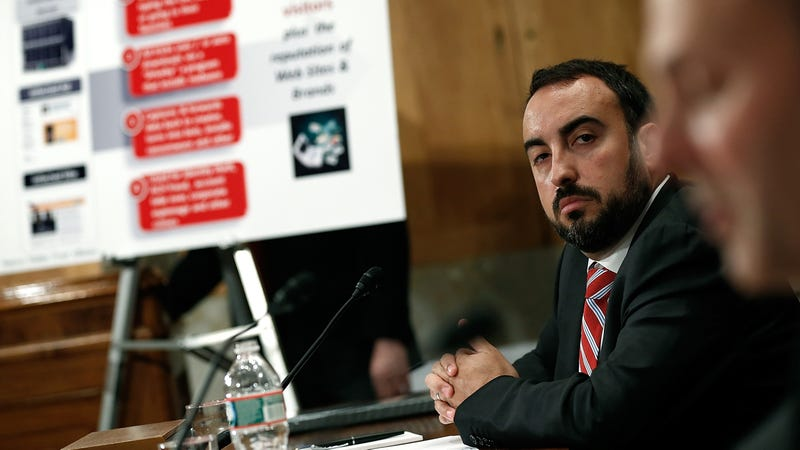 Alex Stamos at a Senate hearing in 2014.