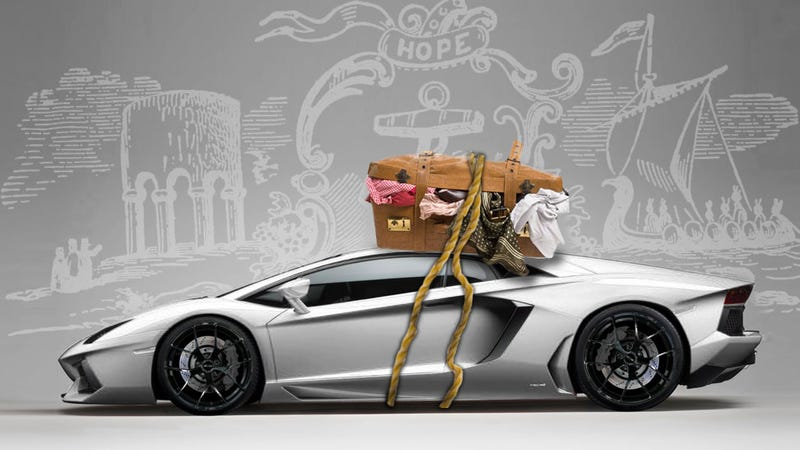 Illustration for article titled I'm Driving A Lamborghini Aventador Up The East Coast, Here's Why