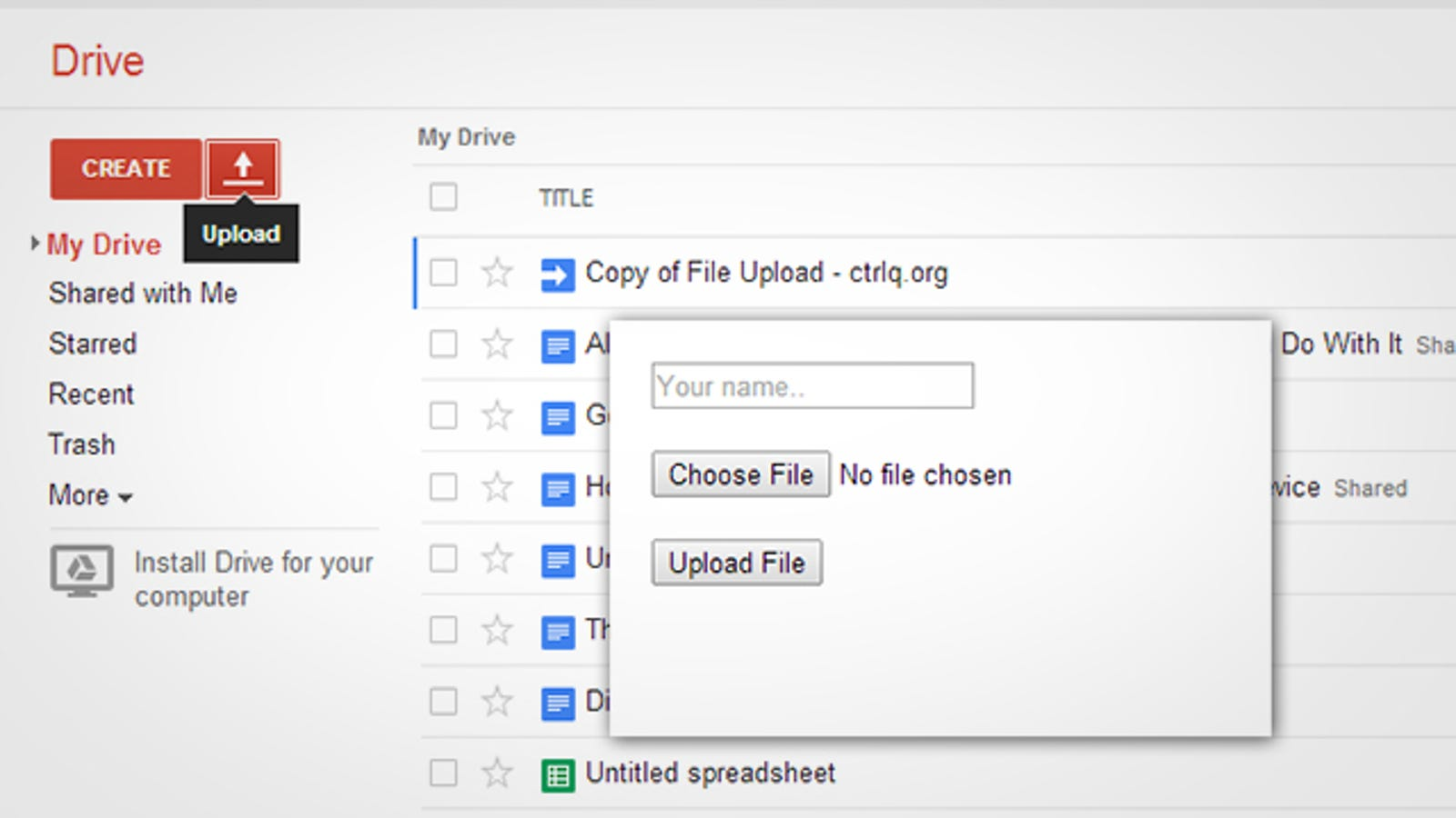 Allow Others to Upload Files to Your Google Drive with This Script