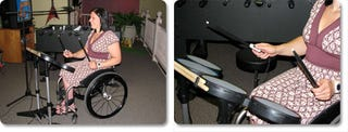 Illustration for article titled Rock Band Drum Kit Gets Wheelchair Accessible (With How To)