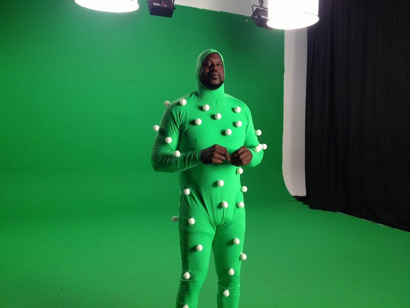 Illustration for article titled Shaq In World's Largest Motion Capture Suit