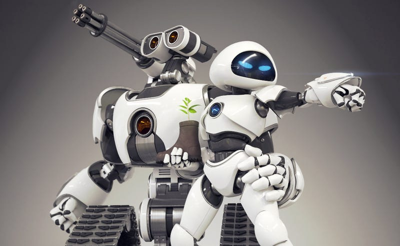 Illustration for article titled Meanwhile, in a Parallel Universe, Wall-E and EVE Are Badass