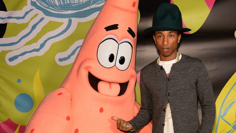 Illustration for article titled Pharrell's New SpongeBob Song Will Be Inescapable