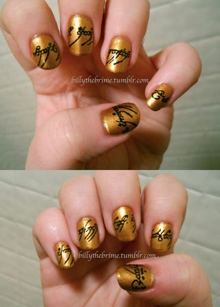 Illustration for article titled Lord of the Rings manicure forges 10 nails to rule them all
