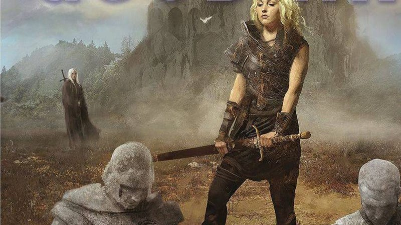 A section of the cover for Terry Goodkind's Shroud of Eternity, which the author calls sexist.