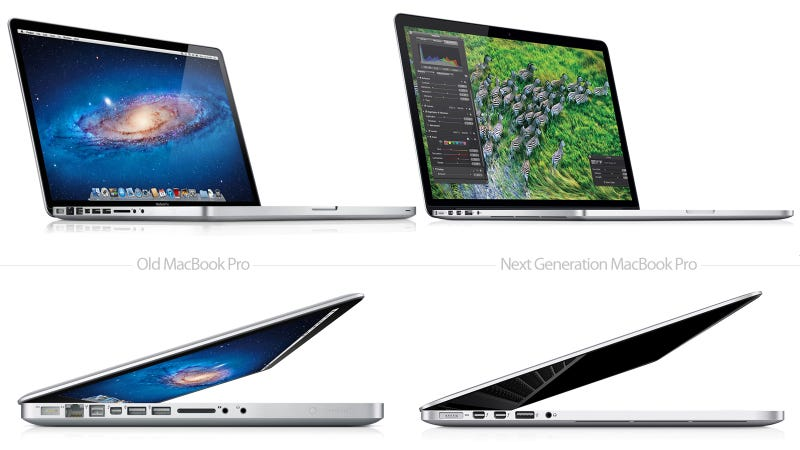 Illustration for article titled The Old and Next Generation MacBook Pro Compared Side By Side—This Is Just Insane