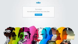 Illustration for article titled Get Rdio for Free for Three Months, Plus $25 in Vdio Credit
