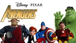 Illustration for article titled See Pixar characters cosplay as the Avengers