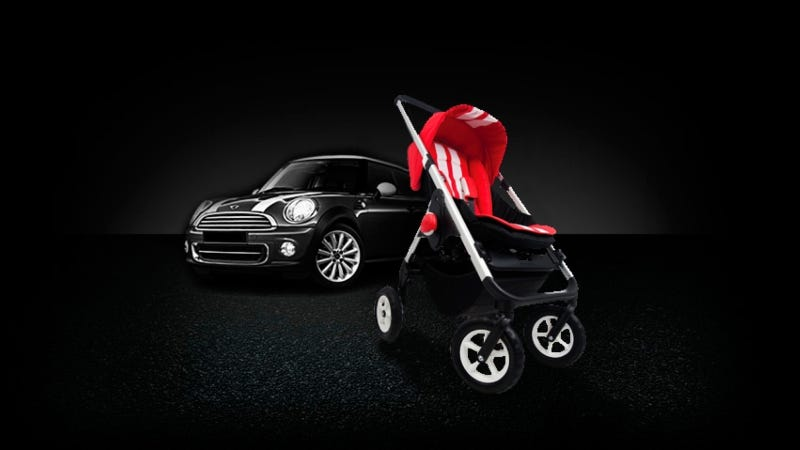 Illustration for article titled 'Fast Track' Your Kid With Racing-Stripe Adorned Stroller