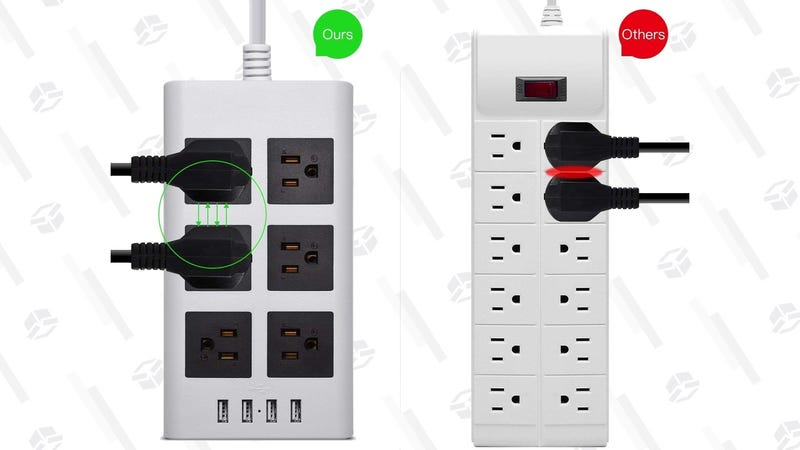 JackyLED 6-Outlet/4-USB Power Strip | $16 | Amazon | Promo code RJWW2VZ8