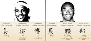 Illustration for article titled Chinese Nicknames For NBA Players Are Confusing, Fun