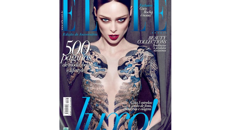 Illustration for article titled Top Model Coco Rocha Slams Mag for Photoshopping Off Her Underwear