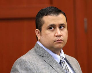 George Zimmerman glances back at the gallery during a recess in his murder trial in Seminole Circuit Court June 17, 2013, in Sanford, Fla.Joe Burbank-Pool/Getty Images