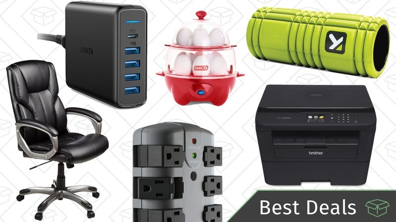 Illustration for article titled Sunday's Best Deals: Fitness Gear, Brother Printer, Power Strips, and More