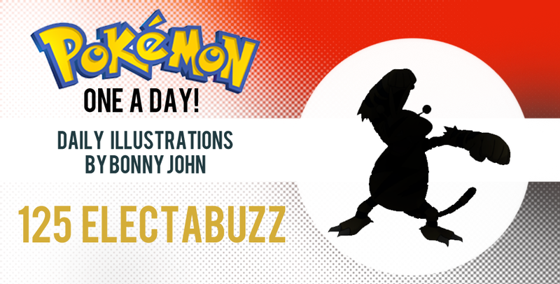 Illustration for article titled Electabuzz Emerges!  Pokemon One a Day!