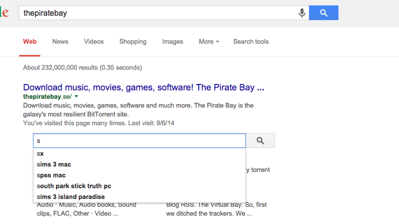pirate bay download music movies games software