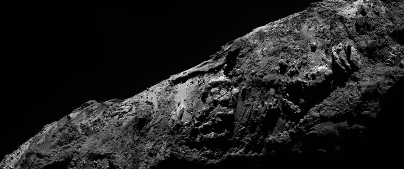 Illustration for article titled The ESA's Latest Image From Rosetta Shows Off A Rugged Surface